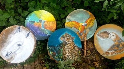 shamanic drums by nel kuc