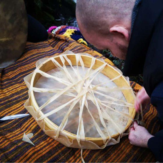 shamanic drums making with nel kuc